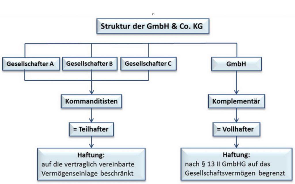 Gemeinschaftliche Finanzierung von Immobilien in Form der GmbH & CO. KG - Schema